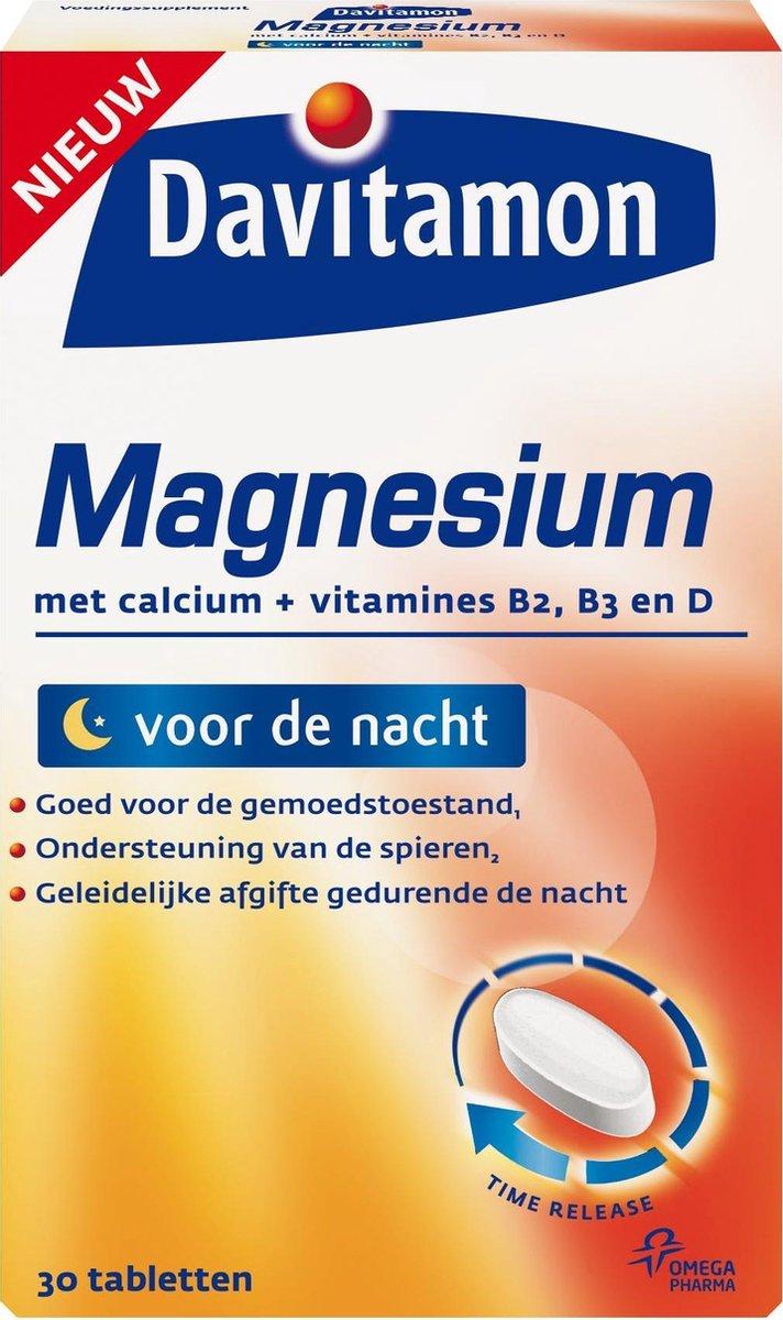 Davitamon Magnesium Tabletten - Goede Nachtrust - 30 stuks - Voedingssupplement