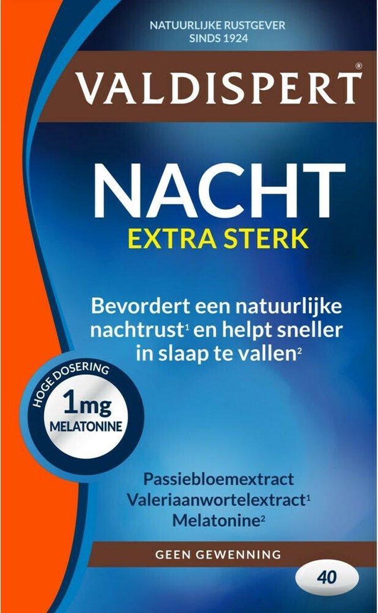 Valdispert Nacht Extra Sterk - Valeriaan & Passiebloem - 30 tabletten - Natuurlijke Rustgever