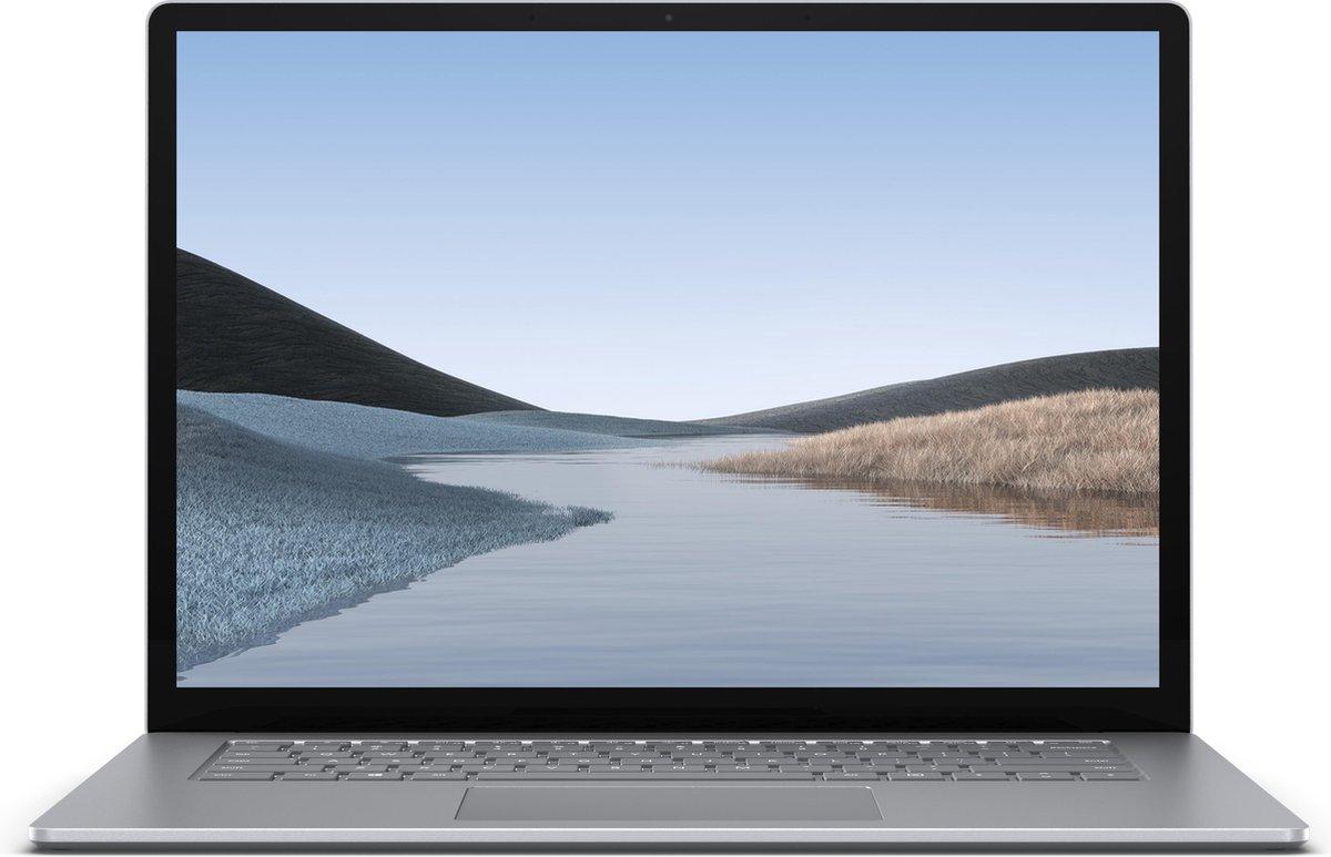 Microsoft Surface Laptop 3 Notebook Platina 38,1 cm (15'') 2496 x 1664 Pixels Touchscreen Intel® 10de generatie Core™ i7 16 GB LPDDR4x-SDRAM 256 GB SSD Wi-Fi 6 (802.11ax) Windows 10 Pro