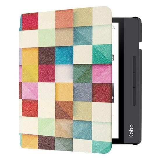 - Kobo Libra H2O Hoes - Book Cover Gekleurde Vierkanten