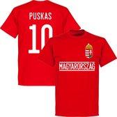 Hongarije Puskas 10 Team T-Shirt - Rood - L
