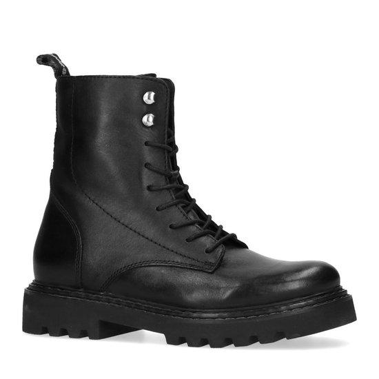 Sacha - Dames - Zwarte biker boots met lus - Maat 42 V23ya1P0