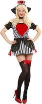 Casino Kostuum | Harten Koningin | Vrouw | Large | Carnaval kostuum | Verkleedkleding