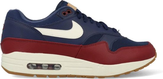 Nike Air Max 1 Blauw Rood Heren Sneakers AH8145 400 Maat 41