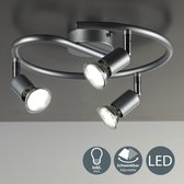 B.K.Licht - Lunis LED Plafondlamp - woonkamer slaapkamer spots - 3-lichts - GU10 - spotjes