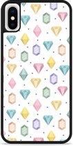 iPhone X Hardcase hoesje Diamonds