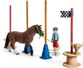 Schleich Pony's behendigheidstraining 42482 - Paard Speelfigurenset - Farm World - 26 x 30 x 15 cm