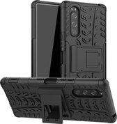 Rugged Hybrid hoesje voor Sony Xperia 5 - zwart