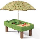 Step2 Zand & Watertafel Naturally Playful Groen - Incl. parasol en diverse accessoires