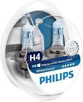 Philips WhiteVision Halogeenlamp - H4 Autolamp - 12V - 2 stuks
