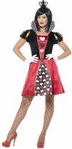 Miss Hartenkoningin Queen of Hearts  kostuum voor vrouwen | maat S ( 36 - 38 )