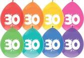 Ballonnen - 30 - 8 x Diverse kleuren