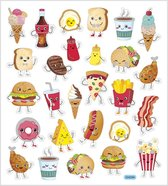 Stickers. fast food. 15x16.5 cm. 1 vel