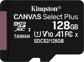 Kingston Technology Canvas Select Plus flashgeheugen 128 GB MicroSDXC Klasse 10 UHS-I