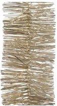 3x Kerstslingers licht parel/champagne 270 cm - Guirlandes folie lametta - Licht parel/champagne kerstboom versieringen