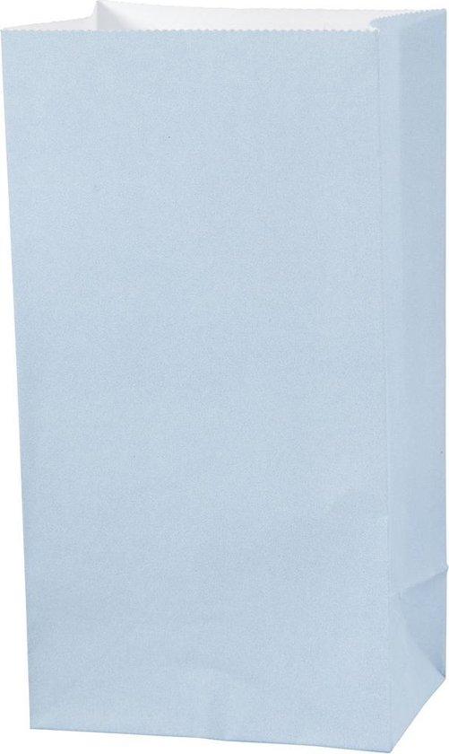 Vivi Gade Papieren Zakken 9 X 6 X 17 Cm 10 Stuks Lichtblauw