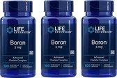 Boron, 3 Mg 100 Vegetarian Capsules, 3-pack