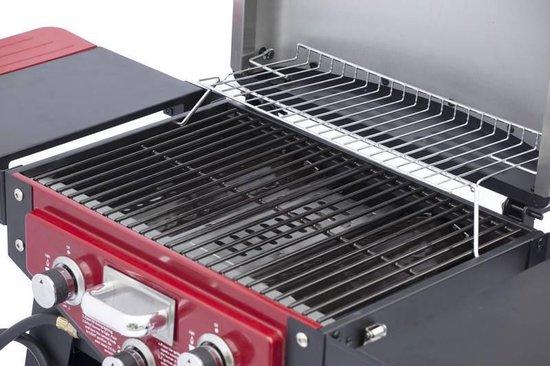 Fire Beam Tafel gasbarbecue en roker Dallas rood