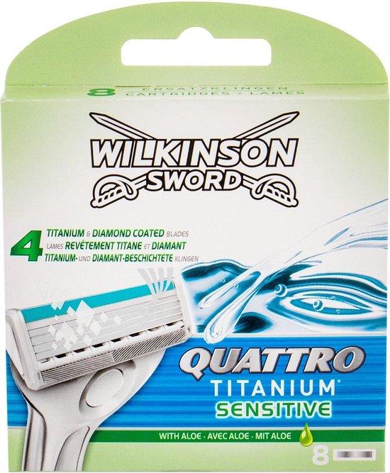 Wilkinson Sword Quattro Titanium Sensitive Razor Blades - 8pcs