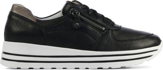 Waldlaufer Vrouwen Leren Lage sneakers / Damesschoenen 758009 – Zwart – Maat 42