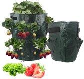 Dierplezier - Plantenzak - 7 vak plantenzak - Aardbeien plantenzak 34 x 28cm - Moestuin zak voor planten en groenten - Groen plantenzak