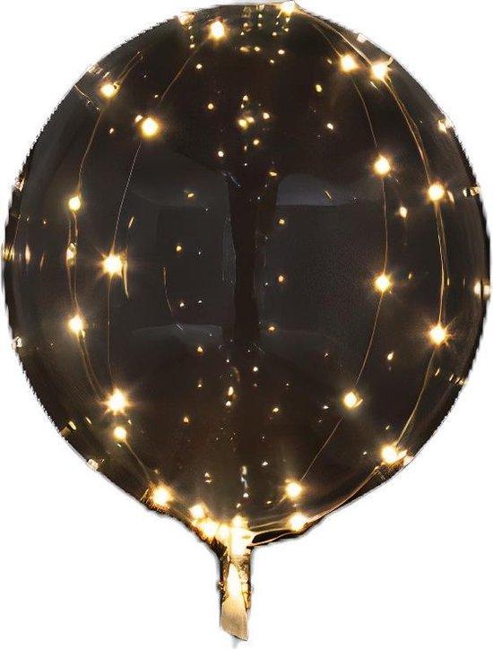 Amscan Led-ballon Clearz Crystal Clear 46 Cm Folie Transparant
