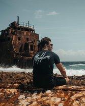 Malelions Jerra T-Shirt - Navy/Light Blue