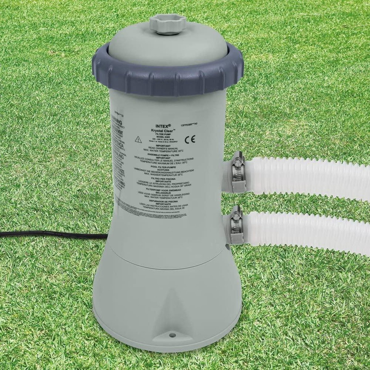 Intex Zwembad filterpomp - 3.8 m3/u - 3785 liter per uur - inclusief 1 filter