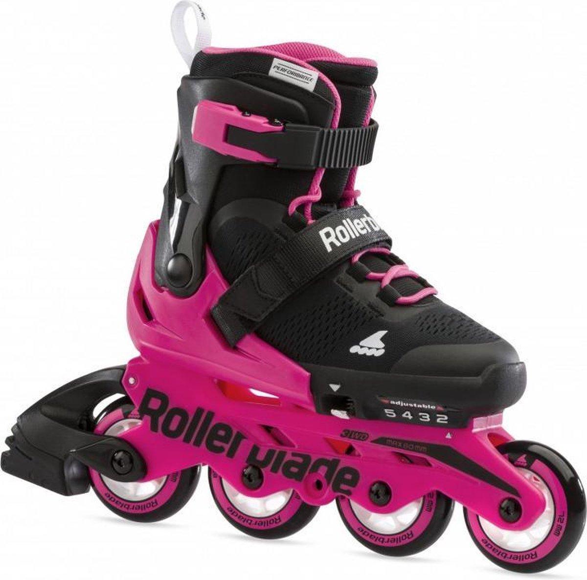 Rollerblade Microblade kinder inline skates 72 mm black / neon pink