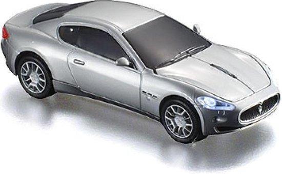 Click Car Mouse Maserati GranTurismo wired,silver