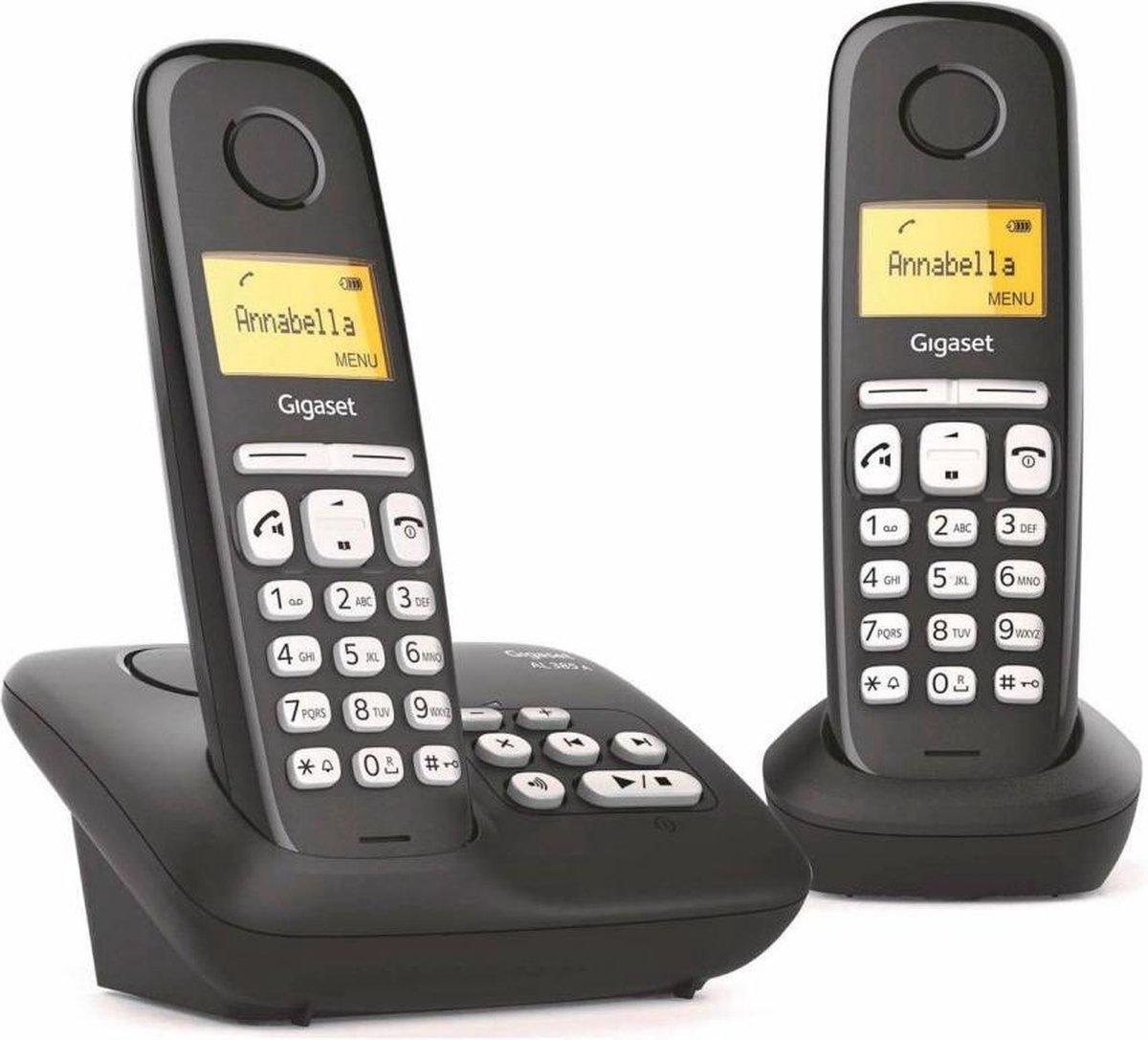Gigaset AL385A Duo Telefoon + Antwoordapparaat Zwart