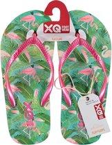 Xq Footwear Teenslippers Flamingo Meisjes Roze/groen Mt 33/34