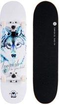 Tempish Skateboard Blue Wolf 31 X 8 Inch Hout Wit/zwart