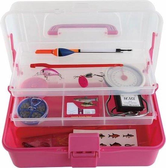 Tacklebox / Viskoffer met accessoires - Girls / Pink
