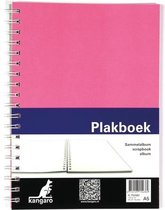 Plakboek Kangaro A5+ 120grs - 40 vel voorkant roze