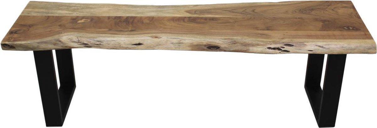 HSM Collection Eetbank SoHo - 130 cm - acacia/ijzer - HSM Collection
