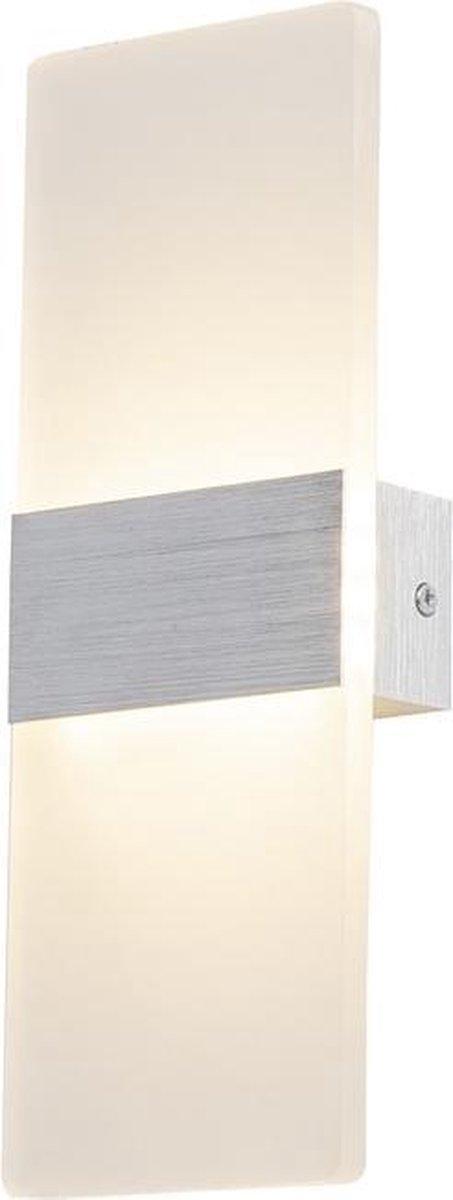 Wandlamp LED Design Zilver Rechthoek Scaldare Piano