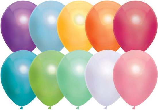 Ballonnen Multicolor Assorti - 50 stuks