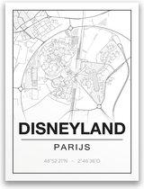 Poster/plattegrond DISNEYLAND - 30x40cm