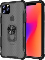 Let op type!! For iPhone 11 Pro Shockproof PC + TPU Protective Case with Ring Holder(Black) A2160/A2215/A2217