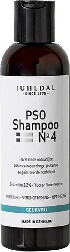 Juhldal PSO Shampoo No 4 voor en jeukende, droge en geirriteerde hoofdhuid - Juhldal PSO Shampoo