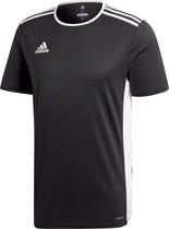 adidas Entrada 18 Trikot Heren Sportshirt - Zwart/Wit - Maat M