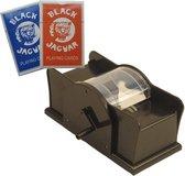 Set kaarten schudmachine met hendel / twee pakjes professionele speelkaarten - gezelschap spellen