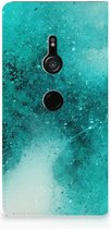 Sony Xperia XZ3 Bookcase Painting Blue