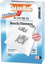 CleanBag M173SIE23 Stofzuigerzakken - MicroFleece+ Geschikt voor Bosch/Siemens D/E/F/G/H - 4 stuks