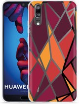 Huawei P20 Hoesje Colorful Triangles