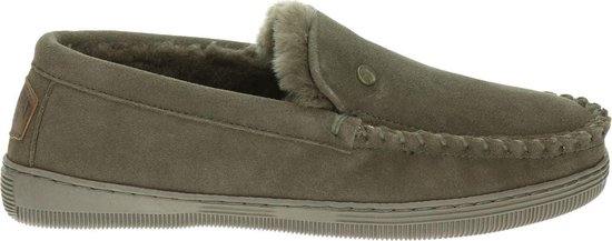 Warmbat Grizzly Suede Heren Pantoffels - Pebble - Maat 43