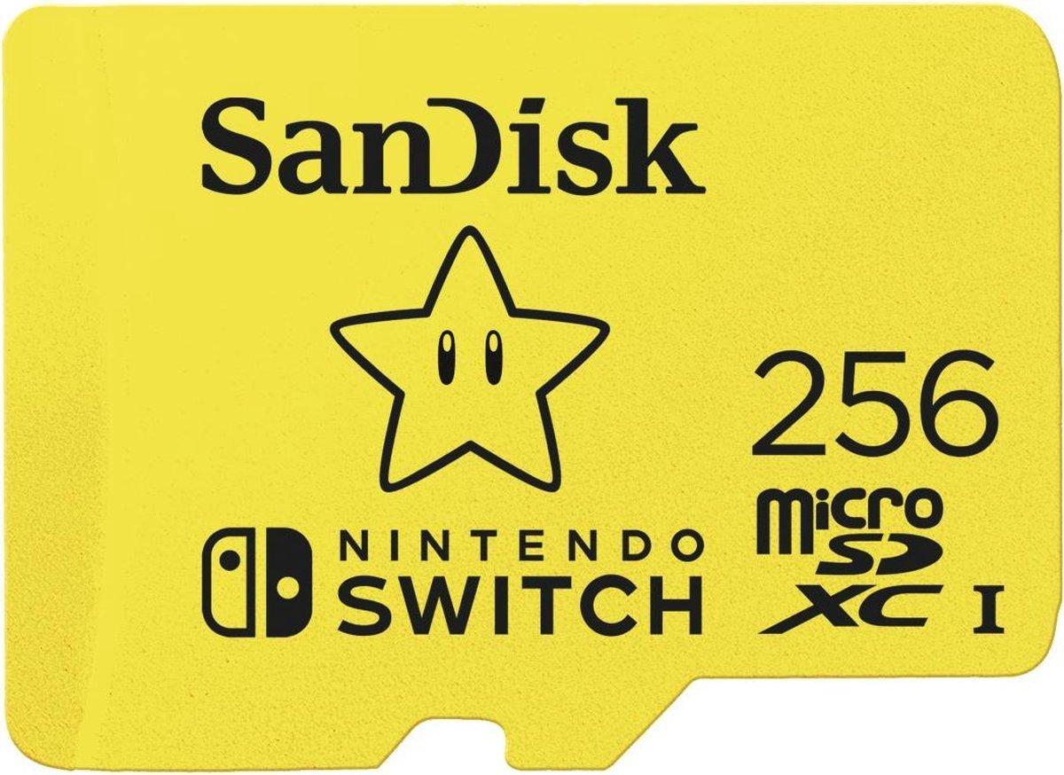SanDisk Extreme Micro SDXC 256 GB voor Nintendo Switch