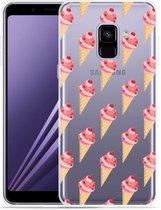 Samsung Galaxy A8 Plus 2018 Hoesje Ice cream