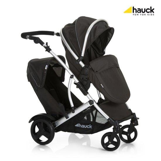 Hauck Duett 2 Kinderwagen - incl. twee regenhoezen - Black